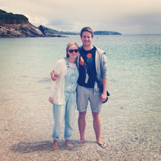 Me and Paddy ... with our feet in the sea!!!